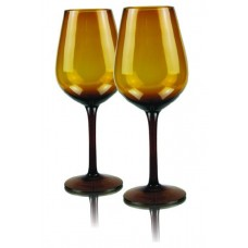 2 бр. Магнум Гоблет Чаши за Вино Амбер