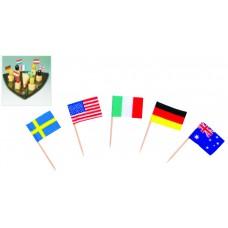 Знамена на Различни Страни 6,5 см 144 бр.