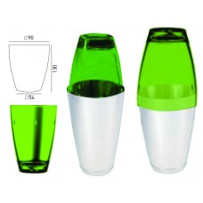 Поликарбонатна Чаша за Шейкър Зелена 520мл
