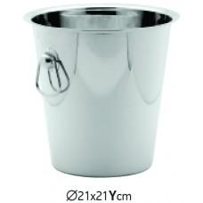 Кофа за Шампанско Инокс 21х21 см