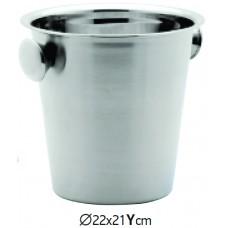 Кофа за Шампанско Инокс 22х21 см