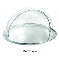 Иноксова Кръгла Тава Прясна Витрина 40x3 см
