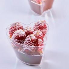 Пластмасова Десертна Чаша HEART 100мл 100бр.