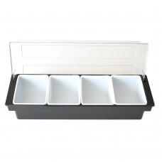 Бар Органайзер 4 Отделения, Поликарбонат-Полипропилен, Черен-Бял, 50см