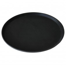 Поднос за Сервиране, Против Подхлъзване, Кръгъл, ABS, Черен, ∅40см