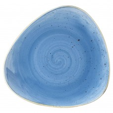 Десертна Чиния Churchill Stonecast, Триъгълна, Сладко Синьо, 22.9см