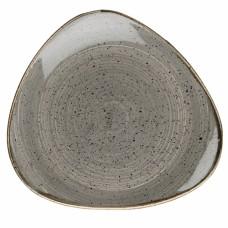 Основна Чиния Churchill Stonecast, Триъгълна, Черен Пипер Сив, 26.5см