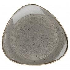 Десертна Чиния Churchill Stonecast, Триъгълна, Черен Пипер Сив, 22.9см
