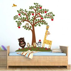 WS12012 - Animal Friends and Apple Tree Детски Стикери