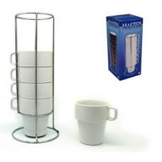 Бял Кафе-Чай Сервиз Комплект