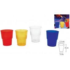 Цветни Пластмасови Чаши за Вода, Сок 300 мл. 50 бр.