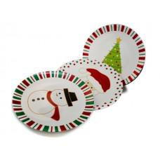 Коледна Чиния 320 мм. (Дядо Коледа, Снежен Човек, Елха) Чинии-Купи