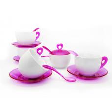 Чай Комплект за Четирима Души 15 ч. Лилав