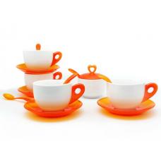 Чай Комплект за Четирима Души 15 ч. Оранжев