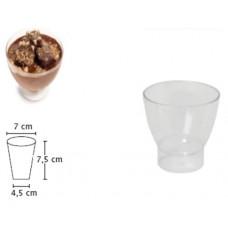 Пластмасова Чаша за Пудинг 150 мл. 50 бр. Полистирол