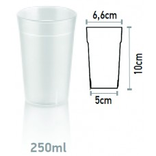 Поликарбонатна Чаша за Вода 250мл Поликарбонат