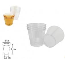 Твърда Пластмасова Чаша за Ракия 180 мл. 50 бр.