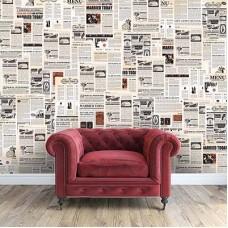 Винтидж Вестници WALPLUS, WF10002, Стикер за Стена, 147х118.8см