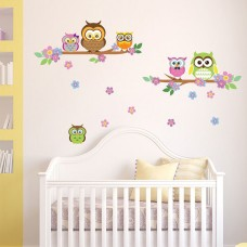 WS3027 - Owl Flowers Trees