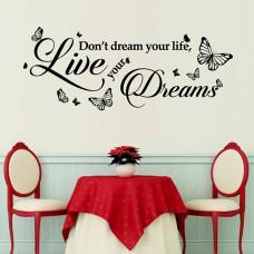 Мечта Цитат WALPLUS, WS3038, Стикер за Стена, 75х30см