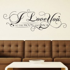 WS4017 - I Love You Quote - Grey Vine Дом и Офис