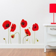 WS5018 - Red Poppy Flowers Дом и Офис