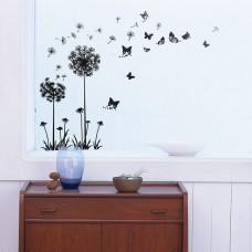 WS5022 - Black Dandelion Butterflies Дом и Офис
