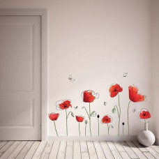 WS5053 - Poppy flowers and butterflies Дом и Офис