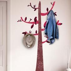 Цветни Мотиви Дърво Куки WALPLUS, WS8009, Стикер за Стена, 4 Куки, 180х116см