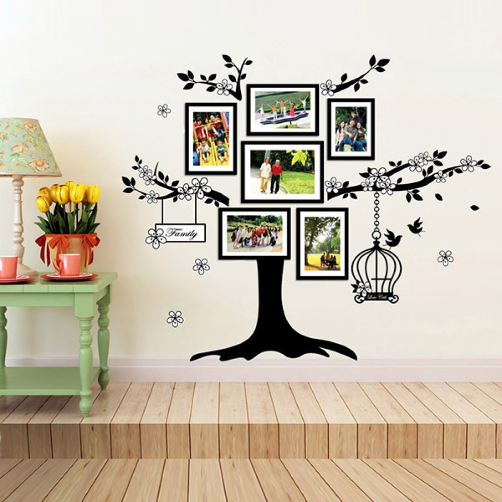 ws9021 huge family tree photo frames birdcage walplus ws9021