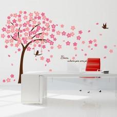 Розови Череши Цветя WALPLUS, WS9046, Стикери за Стена, 310х180см