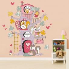 WS9052 - Squirrel Tree House Детски Стикери