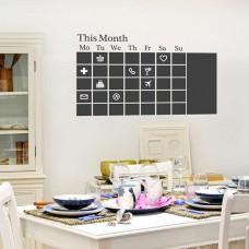 Календар Черна Дъска WALPLUS, WSB9044, Стикер за Стена, 130х76см