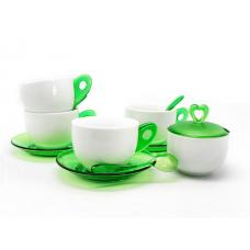 Зелен Чай Комплект за Четирима Души 15 Парчета